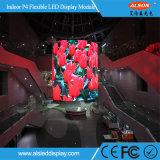 P4mm flexible LED-Bildschirmanzeige-Innenbaugruppe