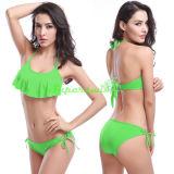 Flounce van dames de Sexy Bikini van het Koord van Halter