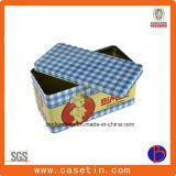 Kundenspezifisches rechteckiges Metallgeschenk-verpackenzinn-Kasten, Geschenk-Blechdose