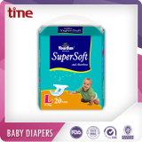 Pañales suaves del precio de fábrica de la alta calidad y absorbentes estupendos directos del bebé
