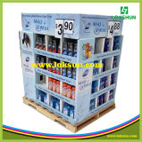 Pop supermercado estante de exhibición de cartón de papel Pallet Display