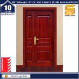 チークの木製の内部か外部の固体木の表玄関デザイン両開きドア