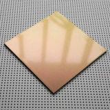 Flourocarbon покрыло алюминиевую составную панель (серебряные металлические PF-422)