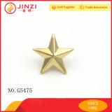 Kundenspezifische Qualitätsbronzen-Farben-dekorative Metallstern-Niet