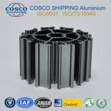 Aluminiumkühlkörper-Profil mit dem Schwarzeloxieren und der maschinellen Bearbeitung