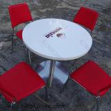 ロゴ(T1611171)の最上質の大理石の石造りの円形のダイニングテーブル