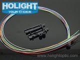 Câble optique de fibre de jupe de Hytrel avec des nécessaires de tuyauterie de sortance de fibre