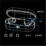 Uma interconexão de dois altofalantes torna-se como um fone de ouvido estereofónico