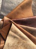 Tela del ante de Microfiber de la tela del sofá del poliester (K030)