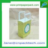 Sac de transporteur cosmétique fait sur commande de sac de sac à provisions de sac de cadeau de papier d'emballage d'impression offset