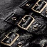Het punk In het groot Zwarte Mechanische Vest van het Leer van het Verband van Mensen (y-756)