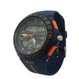 Plastikfall-Gummiband-Japan-Bewegungs-wasserdichte Chronograph-Kursteilnehmer-Uhr