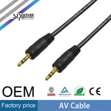 Sipu cable al por mayor de 3,5 mm macho a macho de audio y vídeo AV
