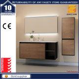 Conjunto de armário de banheiro de MDF de melamina com espelho LED