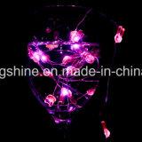 Lampes à cordes à lapin 2,3FT 15 LED à fil de batterie en fil d'argent à la lumière de corde de fée pour décoration