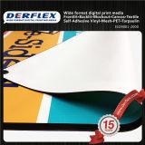China-Hersteller-hochfeste Garn Frontlit Flexfahne im Freienbelüftung-Vinyl, das Fahne bekanntmacht