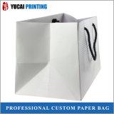 Kundenspezifische Weißbuch-Einkaufstasche für das Verpacken