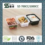 recipiente de armazenamento plástico do alimento de 1000cc Microwaveable&Freezer