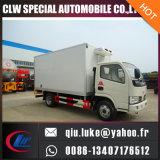 2016 최신 유로 판매를 위한 수동 변속 장치를 가진 3/4대의 배출 기준 냉장고 트럭 4X2 Forland/Dongfeng 냉장고 트럭