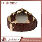 Neueste Form-Frauen-lederne Armbanduhr