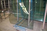 안전에 의하여 부드럽게 하는 구부려진 엘리베이터 유리
