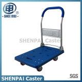 carro de dobramento plástico azul da mão 180kg com rodas de TPR