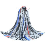 Ladyのための方法Contrat Color Long Scarf