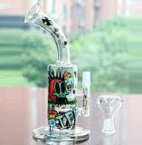 Cachimbas de agua de las etiquetas coloridas de las plataformas petroleras de cristal 11 de los tubos '' con el tazón de fuente