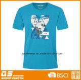 T-shirt grande da cópia da caixa da forma do esporte dos homens