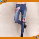 新しい方法女性Embrioderyデニムのジーンズのジョガーの偶然のズボン