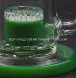 Das neue Glasrohr mit zwei Funktionen kann rauchendes Wasser-Rohr für Tabak und Ölplattform