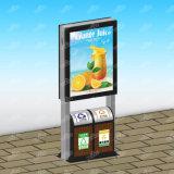 Double étalage de publicité actionné solaire latéral extérieur DEL Mupis avec le coffre de déchets
