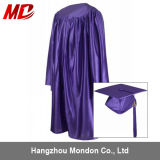 Robe de chapeau pour le pourpre brillant de vente en gros de graduation de jardin d'enfants
