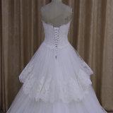 Милые прибытие платья венчания 2016 поезда шнурка слоев новое