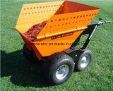De Kruiwagen van de Kipwagen van Truk van de mest met Wielen