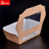 Примите вне Paper Salad Containers с Pet Window