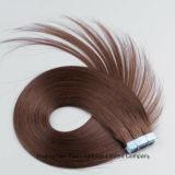 i capelli di trama del nastro della pelle di estensione 40PC/Set dei capelli di 7A Brown nel bianco incollano