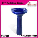 Bleu de bassin de piédestal de lavage de main de stand d'étage de cuisine de Moden de grès
