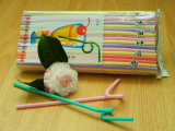 6 * 270mm Plastic Drinking Artistic Straws