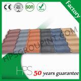 Tuiles de toiture légères colorées en métal de matériau de toiture