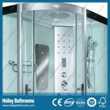 Nuevo Diseño del equipo de cabina de ducha con la exhibición estante de vidrio y Seat (SR119L)