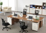 側面のキャビネット(SZ-WST624)が付いている新しい現代オフィス用家具ワークステーション