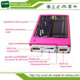 휴대 전화 용 듀얼 USB 10000mAh 범용 태양 광 발전 은행