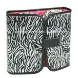 Folded portatile Travel Toiletry Makeup Cosmetic Bag con Standing Mirror