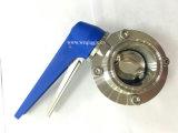 衛生ステンレス鋼の三クローバーの互換性のある蝶弁-トリガーを引っ張りなさい