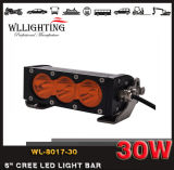 Rangée simple 6inch 30W outre de la mini barre Wl-8017-30 (LED-LIGHT-BAR) de l'éclairage LED 4X4 de route