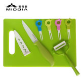 8PCS Ceramic Cutlery Set for Fruit Knife/Forks/Peeler/Chopping Board