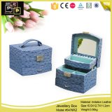 Brown Leather Storage Jewelry Box avec Hidden Drawer (8055)