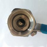 Robinet à tournant sphérique intérieur de l'amorçage 1PC d'acier inoxydable avec le certificat de la CE