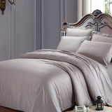 Conjunto de cama de luxo 100% algodão 300tc Solid Colors Hotel